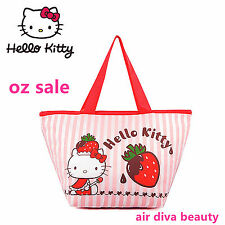 0acf2a72258a Girl Child Lady Hello Kitty School Work Lunch Box Tote Organizer Insulated  Bag