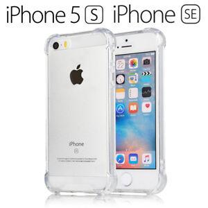 Funda Gel TPU Transparente Antigolpes para iPhone 5 / 5S / SE 2016