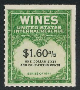 UNITED STATES (US) RE198 UNUSED VF NH $1.60 4/5 WINE NGAI