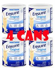 4 Cans Ensure Original Nutrition Powder 14.1oz (56.4oz total) Vanilla Ex 06/2021