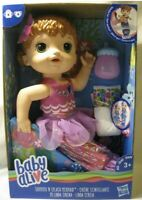 New Baby Alive Shimmer 'n Splash Mermaid Doll Red Hair Bottle Pink Clothes - NIB
