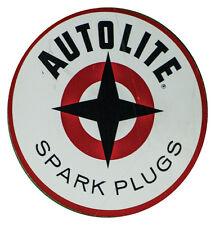 Autolite Spark Plugs Round Decal Sticker Adhesive on Back