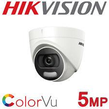 Hikvision DS-2CE72HFT-F28 5MP COLORVU Turret IP67 CCTV Camera 24/7 Colour HD-TVI