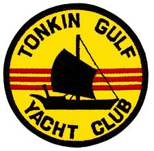 """Tonkin Gulf Yacht Club Patch (282) 3"""" Round Embroidered Patch 22139"""