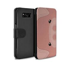 PU Leather Case/Cover/Wallet for Samsung Galaxy S8/G950/Animal Stitch Effect/Pig