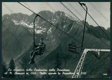 Bergamo Colere Cantoniera della Presolana Seggiovia Foto FG cartolina ZK1846