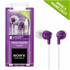 Sony DR-EX14VP Violet Purple Earbuds Earphone Headset for Music Android iPhone