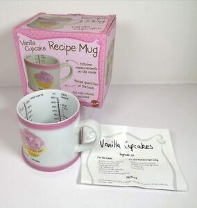 Bluw - Vanilla Cupcake Recipe Ceramic China Mug Pink Tea Coffee Cup - BOXED NEW