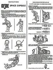 ADVENTURES OF GI JOE SPACE CAPSULE INSTRUCTION REPRO RARE HASBRO INSTRUCTIONS