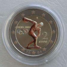 2 Euro Griechenland 2004 Olympische Sommerspiele Athen in Farbe unz.