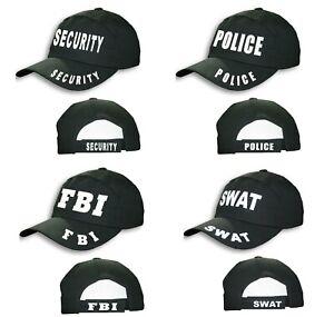 Unisex SWAT FBI Police Security Black Hat Adults Outdoor Sports Baseball Cap UK