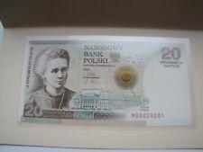 banknot 20 zł.Maria Curie Skłodowska MS przykładowy