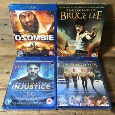 Blu-Ray Movie Bundle: Ozombie, Legend Bruce Lee, Courageous, Injustice