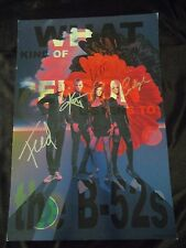 CLASSIC B 52'S BAND ROCK ROLL AUTOGRAPHED POSTER PSA JSA GUARANTEE FOR LIFE
