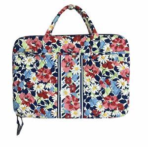 Vera Bradley Laptop Hard Case 2 Exterior Pockets Removable Straps Floral Daisy