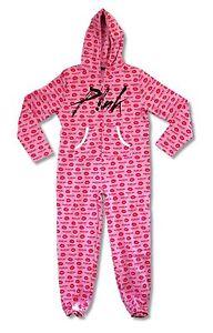 P!NK Pink Blow Me One Last Kiss Adult Zip Jumper Pajama Suit