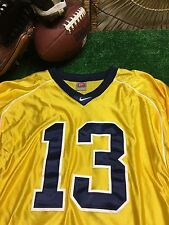 Authentic Michigan Wolverines #13 Nike Alternate Football Jersey Large +2 c18