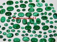 150 Crt WHOLESALE LOT NATURAL GREEN MALACHITE CALIBRATED CABOCHON GEMSTONES AAA