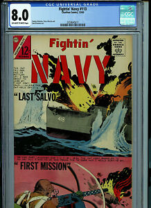 Fightin' Navy CGC 8.0 VF Charlton Comics Silver Age 1963 K26