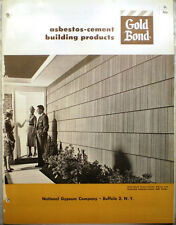 GOLD BOND National Gypsum ASBESTOS Cement Residential Building Products 1960's