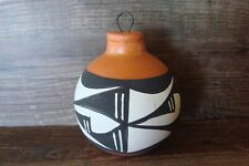 Acoma Pueblo Hand Painted Pottery Christmas Ornament by Antonio