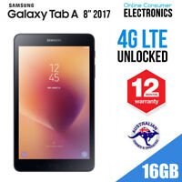 "2017 Samsung Galaxy Tab A 8"" 16GB WiFi 4G LTE 1.4Ghz Black SM-T385 Unlocked"