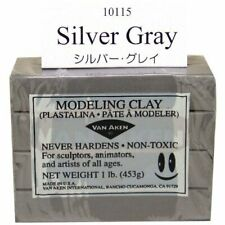 VAN AKEN INTERNATIONAL 10115 PLASTALINA MODELING CLAY SILVER GREY 1LB