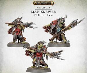 3 Man-Skewer Boltboyz Kruleboyz - Dominion Vorherrschaft - Age of Sigmar