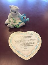 """1993 Enesco Calico Kittens: """"Planting The Seeds Of Friendship� 623547 W/cert"""