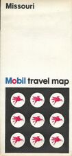 1968 MOBIL Road Map MISSOURI Route 66 Springfield Jefferson City Saint Joseph