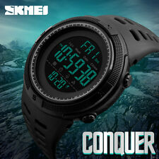 SKMEI  Sport Chronograph Countdown Men's 5ATM Waterproof Military Digital Watch