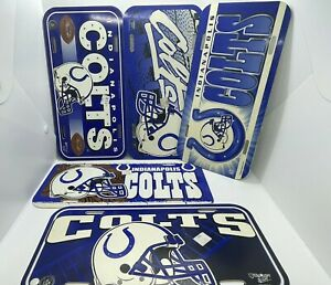 Wincraft Sports Vintage NFL plastic license plate made USA Indianapolis Colts