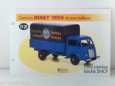 Dinky Toys Atlas - Fascicule SEUL du camion Ford bâché SNCF (Booklet only)
