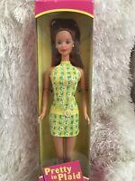 Pretty in Plaid Barbie #20667 1998 Redhead Doll, NRFB