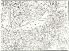 1939 Antique BOSTON Street Map Vintage City Map of Boston Massachusetts 8211