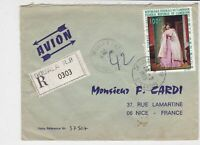 Rep Du Cameroun 1969 Regd Airmail Oouala Cancels Le Billet Stamp Cover Ref 32540