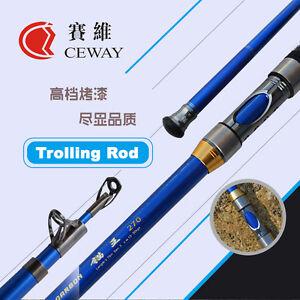 Carbon Boat Fishing Rods Telescopic Trolling Rod Hard Troll Pole 2.7m 3.6m 3.9m