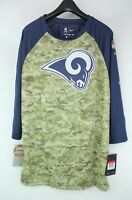Nike NFL Los Angeles RAMS Salute to Service Camo On Field 3/4 Dri-FIT T-Shirt