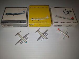 1/600 schabak Condor Germany Malayan Airways Virgin Vickers Viscounts x 3