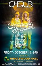 "CHERUB / GHOST BEACH /GIBBZ ""CHAMPAGNE SHOWERS TOUR"" 2014 MEMPHIS CONCERT POSTER"