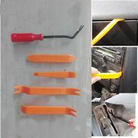 5pcs Car Radio Door Body Clip Panel Trim Dash Audio Plastic Removal Pry Tool Kit