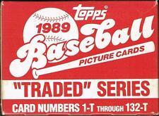 1989 TOPPS BASEBALL TRADED SERIES 132-T CARD SET! KEN GRIFFEY JR. ROOKIE!