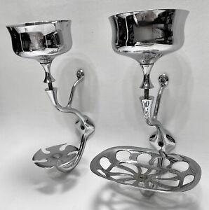 RARE Antique SAN-O-LA Art Brass NY Nouveau Bath Shelf Toothbrush Cup Soap Holder