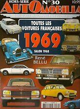 AUTOMOBILIA HS 30 TOUTES LES VOITURES FRANCAISES 1969 (SALON 1968)