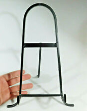 ONE Large Black Metal Easel Display Stand! Great for Plates Fossils and More!