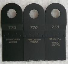 The Renovator Oscillating Multi Tool Saw Blades Bi-Metal Precision Standard 3Pce