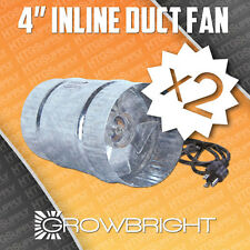 """2 pc 4"""" INLINE DUCT FAN EXAUST BOOSTER BLOWER case inch grow light cool air four"""