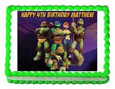 TMNT Teenage Mutant Ninja Turtles party edible cake sheet frosting cake topper