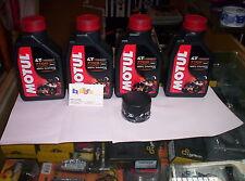 4 LT KIT TAGLIANDO FILTRO OLIO MOTUL 7100 10W50 TRIUMPH 1050 SPEED TRIPLE 05-13
