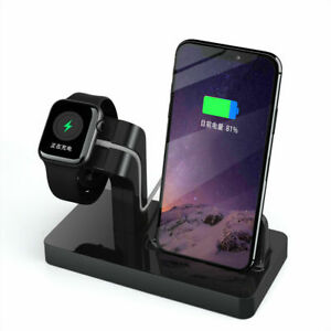 2 In 1 Charger Dock Station Charging Stand For Apple Watch iPhone 12 Pro 11 XS 8